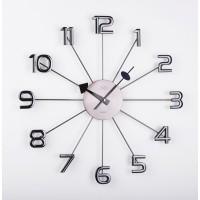Dizajnové nástenné hodiny JVD HT072.1, antracit 49cm