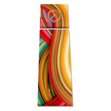 2-dielny obraz s hodinami, Color, 158x46cm