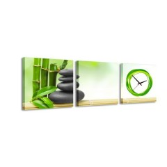 3-dielny obraz s hodinami, Natur 2, 35x105cm