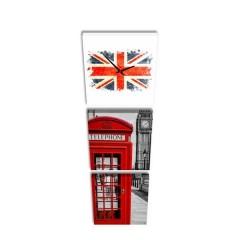 3-dielny obraz s hodinami, Londýn, 35x105cm