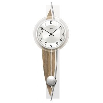 Dizajnové nástenné kyvadlové hodiny 7452 AMS 67cm