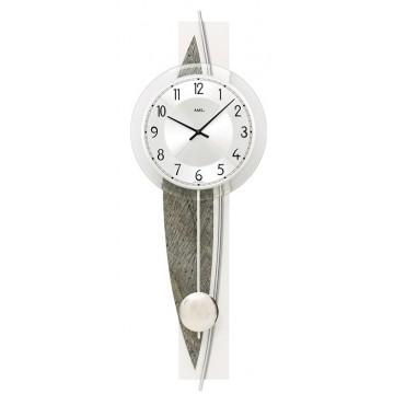 Dizajnové nástenné kyvadlové hodiny 7456 AMS 67cm