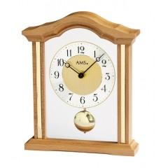 Luxusné drevené stolové hodiny 1174/18 AMS 23cm