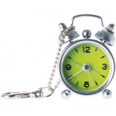 Budík MINI Alarm, Lime Green 6cm