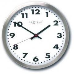 Designové nástenné hodiny Nextime Arabic White 34cm