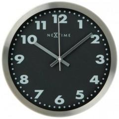 Designové nástenné hodiny Nextime Arabic Black 34cm