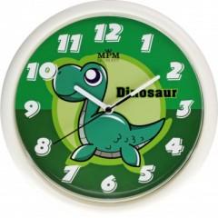 Detské nástenné hodiny MPM, 3088.0040.SW - biela/zelená, 25cm