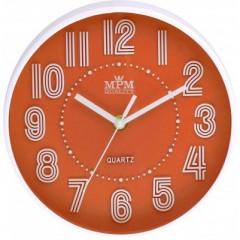 Detské nástenné hodiny MPM, 3228.60 - oranžová, 20cm