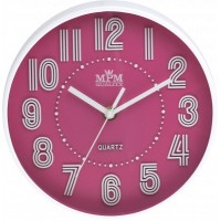 Detské nástenné hodiny MPM, 3228.23 - ružová, 20cm