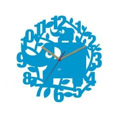 Detské nástenné hodiny Slon Ellie, 34cm