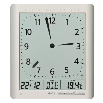 Digitálne nástenné aj stolové hodiny 5898 AMS riadené rádiovým signálom, 24cm