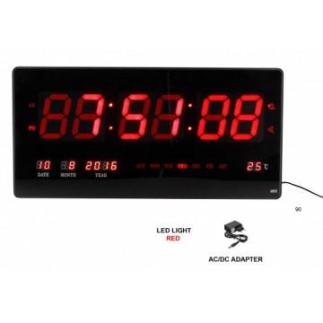 Digitálne nástenné hodiny MPM, 3566, 45cm, s budíkom, dátumom a