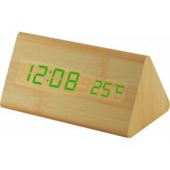 Digitálny LED budík MPM s dátumom a teplomerom C02.3570.51 GREEN
