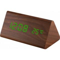 Digitálny LED budík MPM s dátumom a teplomerom C02.3570.50 GREEN