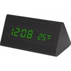 Digitálny LED budík MPM s dátumom a teplomerom C02.3570.90 GREEN