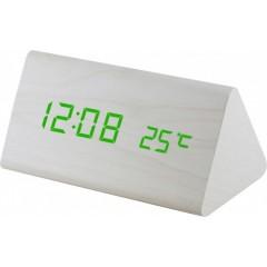 Digitálny LED budík MPM s dátumom a teplomerom C02.3570.00 GREEN