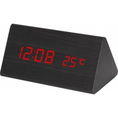 Digitálny LED budík MPM s dátumom a teplomerom C02.3570.90 RED
