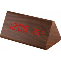 Digitálny LED budík MPM s dátumom a teplomerom C02.3570.50 RED