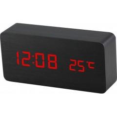 Digitálny LED budík MPM s dátumom a teplomerom C02.3564.90 RED