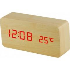 Digitálny LED budík MPM s dátumom a teplomerom C02.3564.51 RED