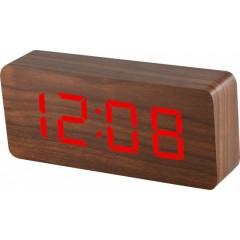 Digitálny LED budík MPM s dátumom a teplomerom C02.3565.50 RED,
