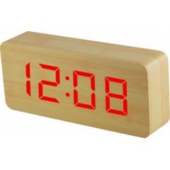 Digitálny LED budík MPM s dátumom a teplomerom C02.3565.51 RED,