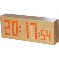 Digitálny LED budík/ hodiny MPM s dátumom a teplomerom C02.3571.