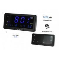 Digitálny LED budík/ hodiny MPM s dátumom a teplomerom C02.3568,