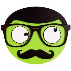 Dizajnové nástenné hodiny 3089 Nextime Mr. Mustache 37cm