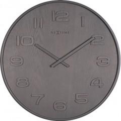 Dizajnové nástenné hodiny 3095gs Nextime Wood Wood Big 53cm