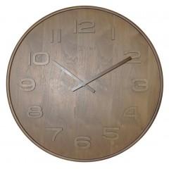 Dizajnové nástenné hodiny 3095br Nextime Wood Wood Big 53cm