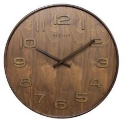 Dizajnové nástenné hodiny 3096br Nextime Wood Medium 35cm