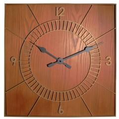 Dizajnové nástenné hodiny 3112br Nextime Wood Square 50cm