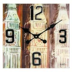 Dizajnové nástenné hodiny 9489 AMS 40cm