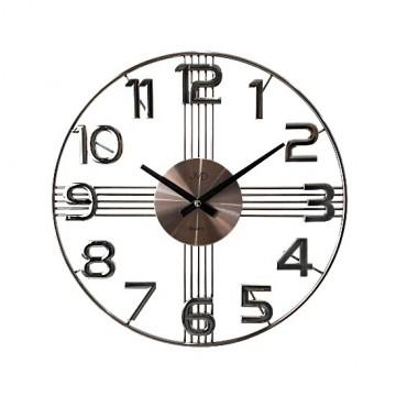 Dizajnové nástenné hodiny JVD HT051.4, antracit 40cm