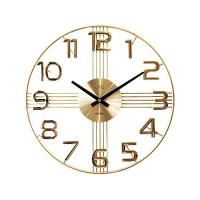 Dizajnové nástenné hodiny JVD HT051.2, gold 40cm