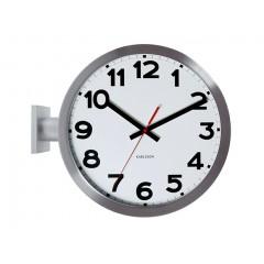 Dizajnové obojstranné nástenné hodiny 5511 Karlsson 38cm