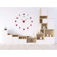 3D nalepovacie hodiny DIY NEPRI, 65 - 130 cm, medené