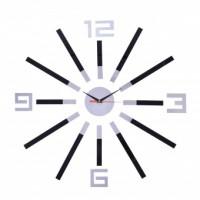 Nástenné hodiny DIY BRIL, čierne
