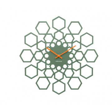Hodiny na stenu Karlsson KA5639GR, Sunshine Hexagon, 48cm