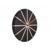 Nástenné hodiny Lines Black, Karlsson 5829, 35cm