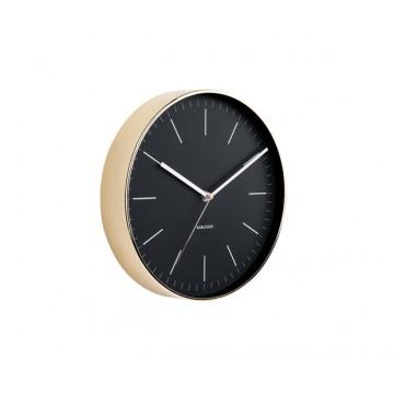 Nástenné hodiny 5695BK Karlsson Minimal, 28cm