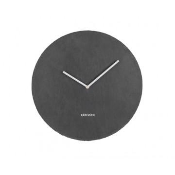 Bridlicové nástenné hodiny KA5714BK Karlsson 40cm