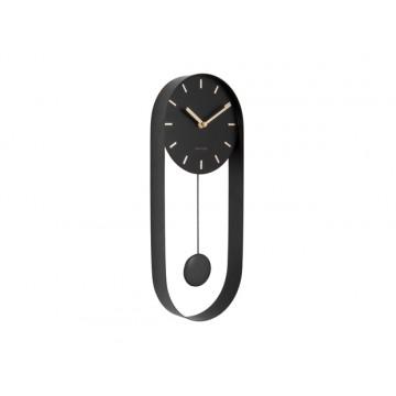 Dizajnové kyvadlové nástenné hodiny 5822BK Karlsson 50cm
