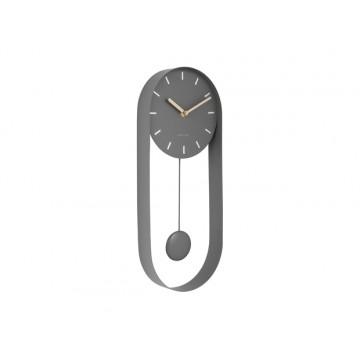 Dizajnové kyvadlové nástenné hodiny 5822GY Karlsson 50cm