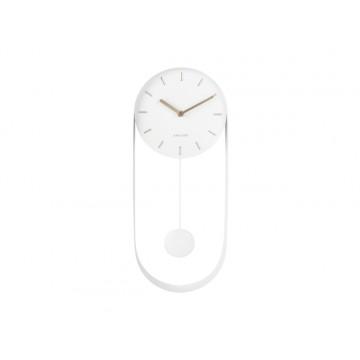 Dizajnové kyvadlové nástenné hodiny 5822WH Karlsson 50cm