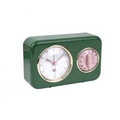 Kuchynské hodiny s časovačom Present Time Nostalgia, PT2970GR, 17cm