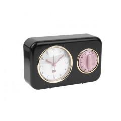 Kuchynské hodiny s časovačom Present Time Nostalgia, PT2970BK, 17cm