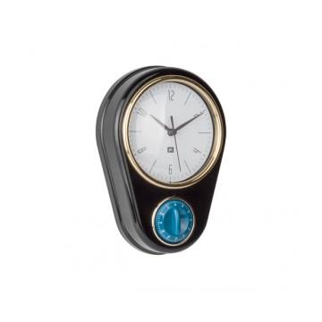 Hodiny s minútkou Present Time PT3264BK, 23cm
