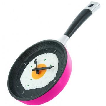 Kuchynské hodiny panvica, PINK, 35cm